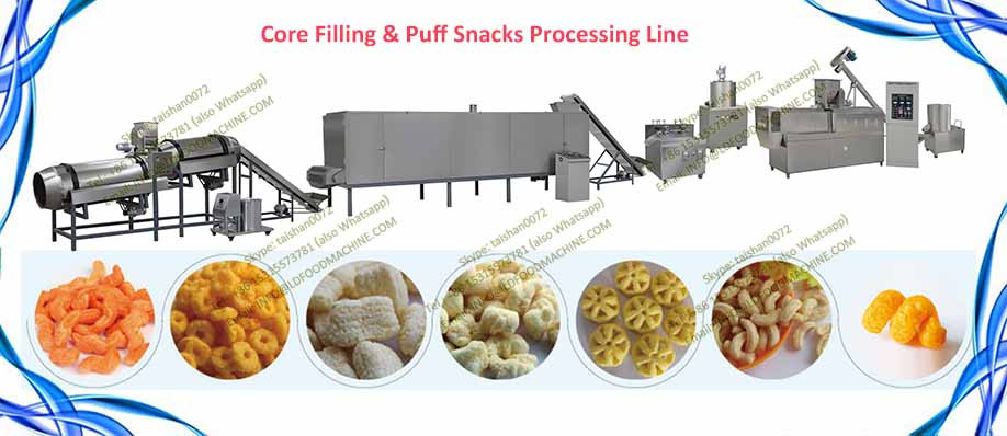 Automatic CE Standard Industrial Corn Puffs Extruder machinery With Stainless Steel 304
