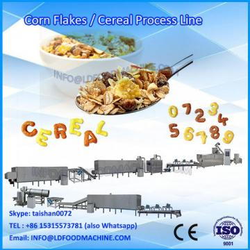 LD Double Double Screw Extruder Inflando Corn Puff Flocos de alimentos Coco Ball Fruit Ring Cereal Production Line